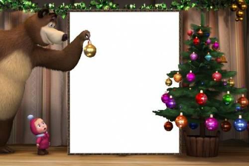 Детская рамка для фото маша и медведь